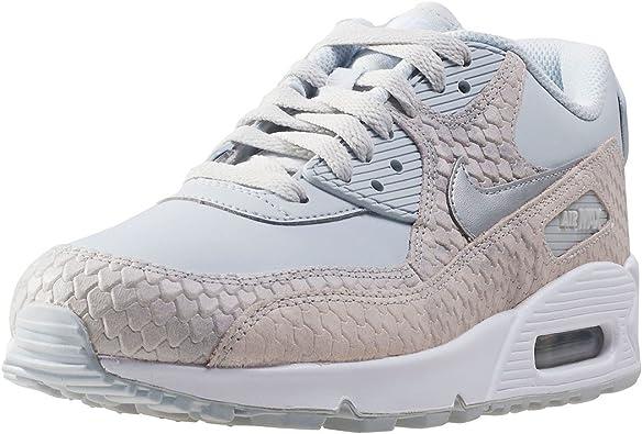 Mujer Nike Air Max 90 Premium Zapatillas 896497 100 Grises