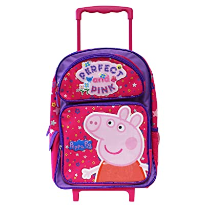 Peppa Pig Perfect and Pink Full Size Rolling Backpack (16in) | Kids' Backpacks