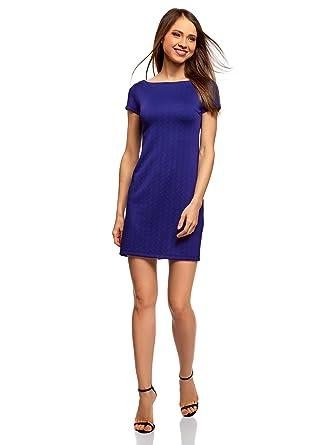Kleid blau u boot ausschnitt