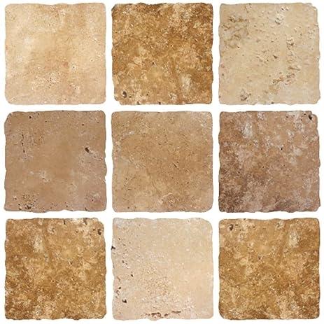 Amazon.com: STONE BROWN CREAM Mosaic tile transfers STICKERS ...