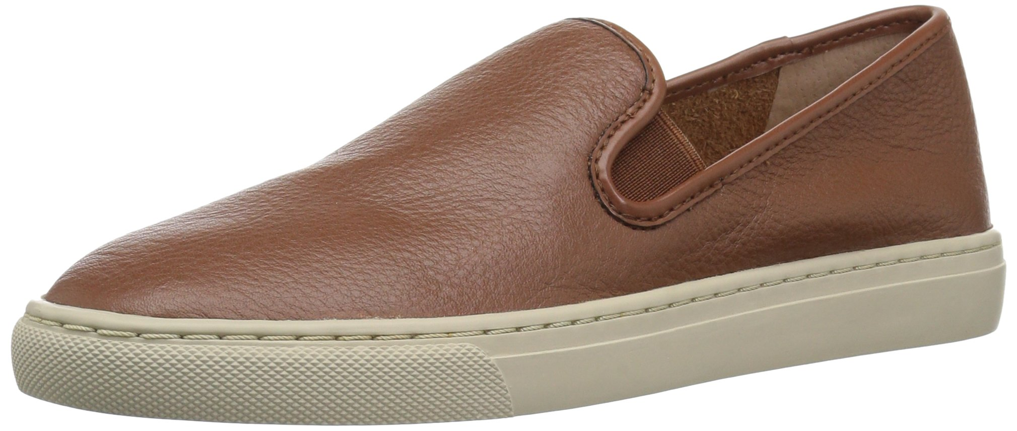 206 Collective Women's Cooper Perforated Slip-on Fashion Sneaker, Cognac Leather, 8.5 B US
