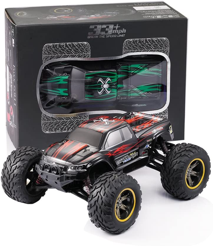 GPTOYS RC Car Vehicle 1/12 Luctan Remote Control Vehicle 2WD 2.4 GHz Semi-Waterproof Monster Truck Truggy --- Best Birthday Gift for Children (The Third Generation) Rosso