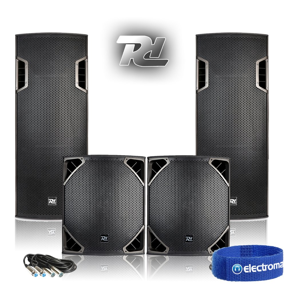 PA System Setup DJ Club Install Twin 15 Speakers 18