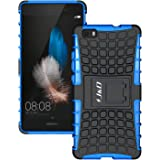HUAWEI P8 Lite 2016 Case, J&D [Kickstand] HUAWEI P8 Lite 2016 Case [Heavy Duty] [Dual Layer] Hybrid Shock Proof Fully Protective Case for HUAWEI P8 Lite (Release in 2016) (Kickstand Blue)