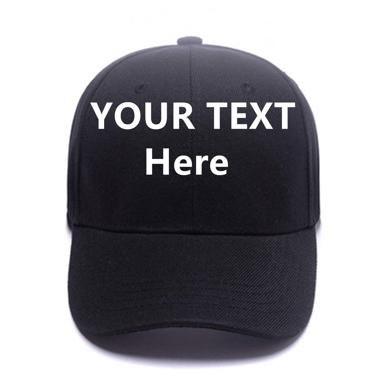 2a936cc5ff58d Design Personalized Flatbill Bill Snapback Custom Fashion Baseball Caps  Funny Trucker Hats for Men Women Black at Amazon Men s Clothing store