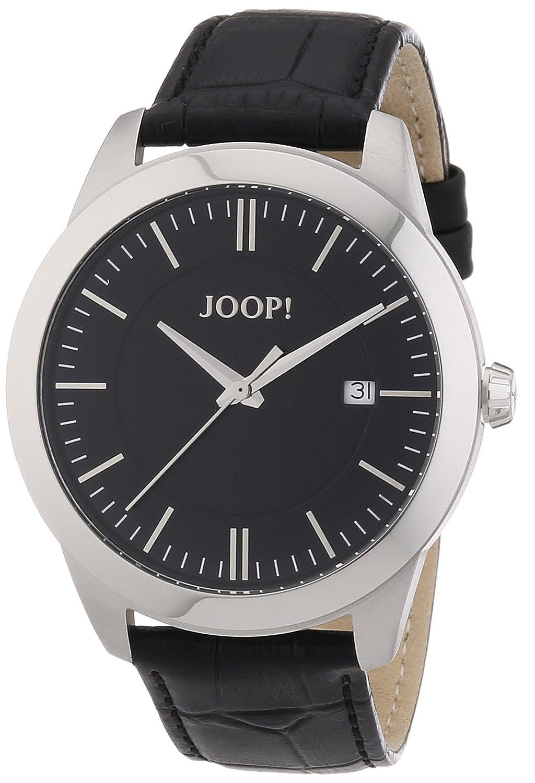 Joop Herren-Armbanduhr XL Element Gents Analog Quarz Leder JP101061F01