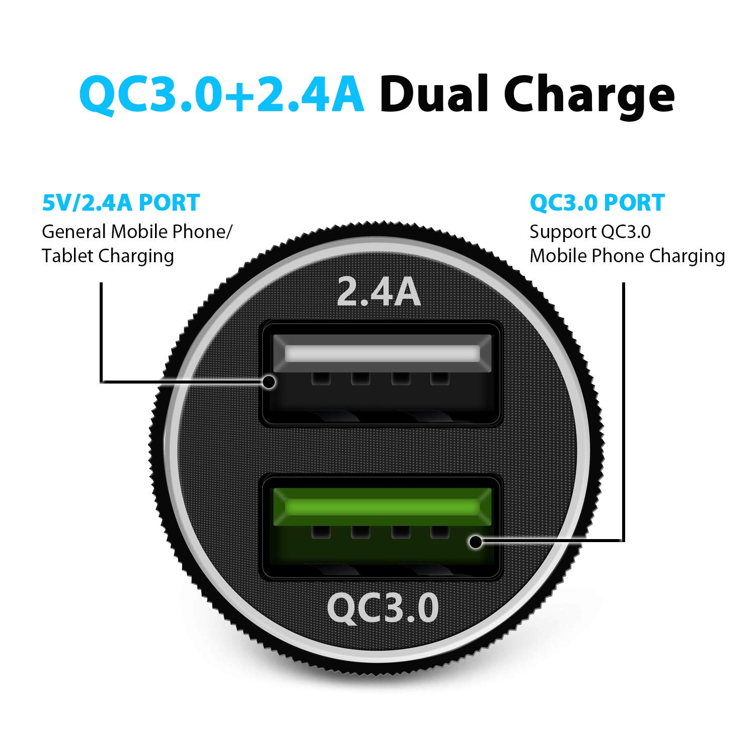 Note9//8 MIPOM Quick Charge 3.0 /& 5V//2.4A Smart Dual USB Ports 30W Fast Car Adapter Compatible Samsung Galaxy S9//S9 Plus//S8//S8 Plus Car Charger iPhone Xs//Xs Max//XR//X//8//8 Plus//7//7 Plus//6s//6 iPad Pro
