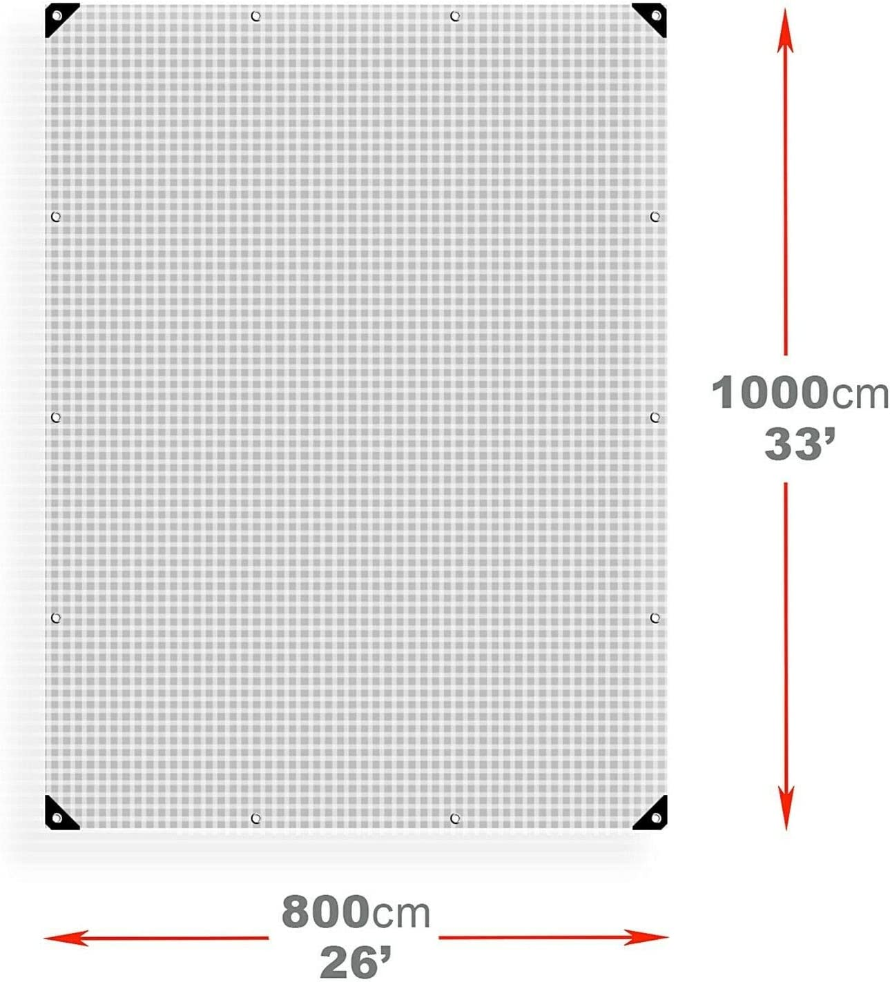 Premium Quality Cover Made of 100 gram//Square metre Tarpaulin Nylon Weave,Eyelets, 3 x 3 m // 9.8 x 9.8 ft Universal Tarp Sheet Agritrade AK Tarpaulin Waterproof Heavy Duty