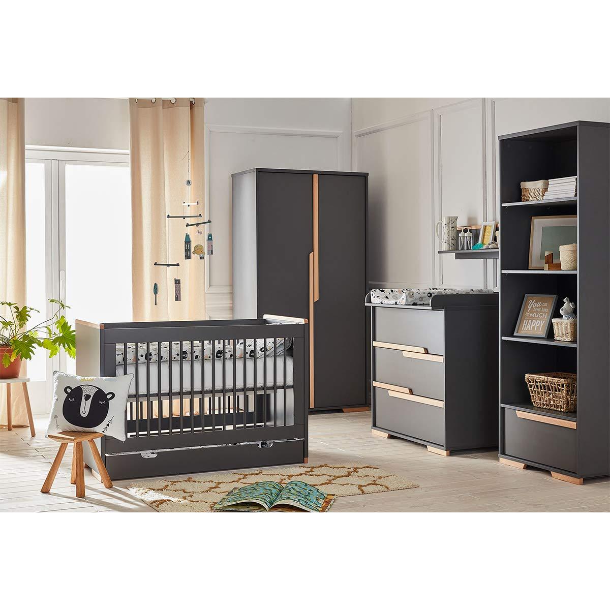 Chambre bébé complète pas cher lit évolutif 70x140 - commode à langer - armoire