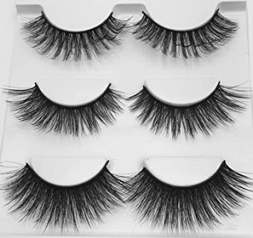 d21f4af667c Amazon.com : 3/5 Pairs Multi pack 3D Soft Mink Hair False Eyelashes Wispy  Fluffy Long Lashes Natural Eye Makeup Faux EyeLashes extension, mix 02 :  Beauty