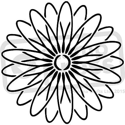 amazon com a4 daisy flower wall stencil template ws00013912