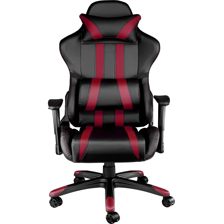 TecTake Silla de oficina ergonomica racing gaming con soporte lumbar - disponible en diferentes colores - (negro burdeos | no. 402232): Amazon.es: Hogar