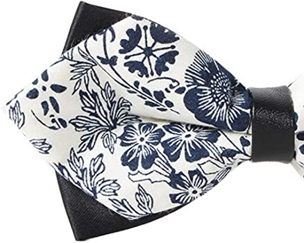 Panegy Unisex Pajarita de Algodón Estampado Floral Corbata de Lazo ...