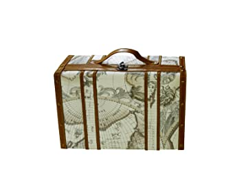 Amazon large wine travel carrying case with handle antique old large wine travel carrying case with handle antique old world map luggage design secure padding holds gumiabroncs Gallery