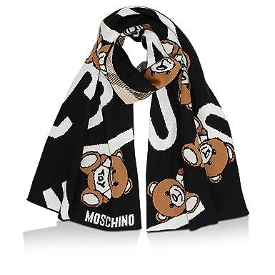 Moschino - Echarpe - Femme noir noir Taille unique  Amazon.fr ... abf773efcdcc