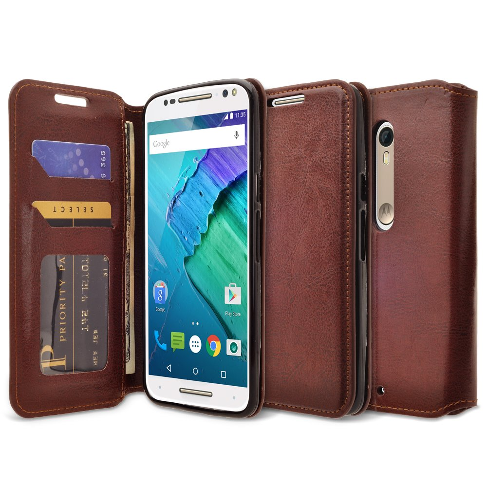 Galaxy Wireless Moto Droid Turbo 2 Case, Moto X Force Case, Kinzie Bounce Case - Magnetic Flip Wallet Case with Stand Feature for Moto Droid Turbo 2/ Moto X ...