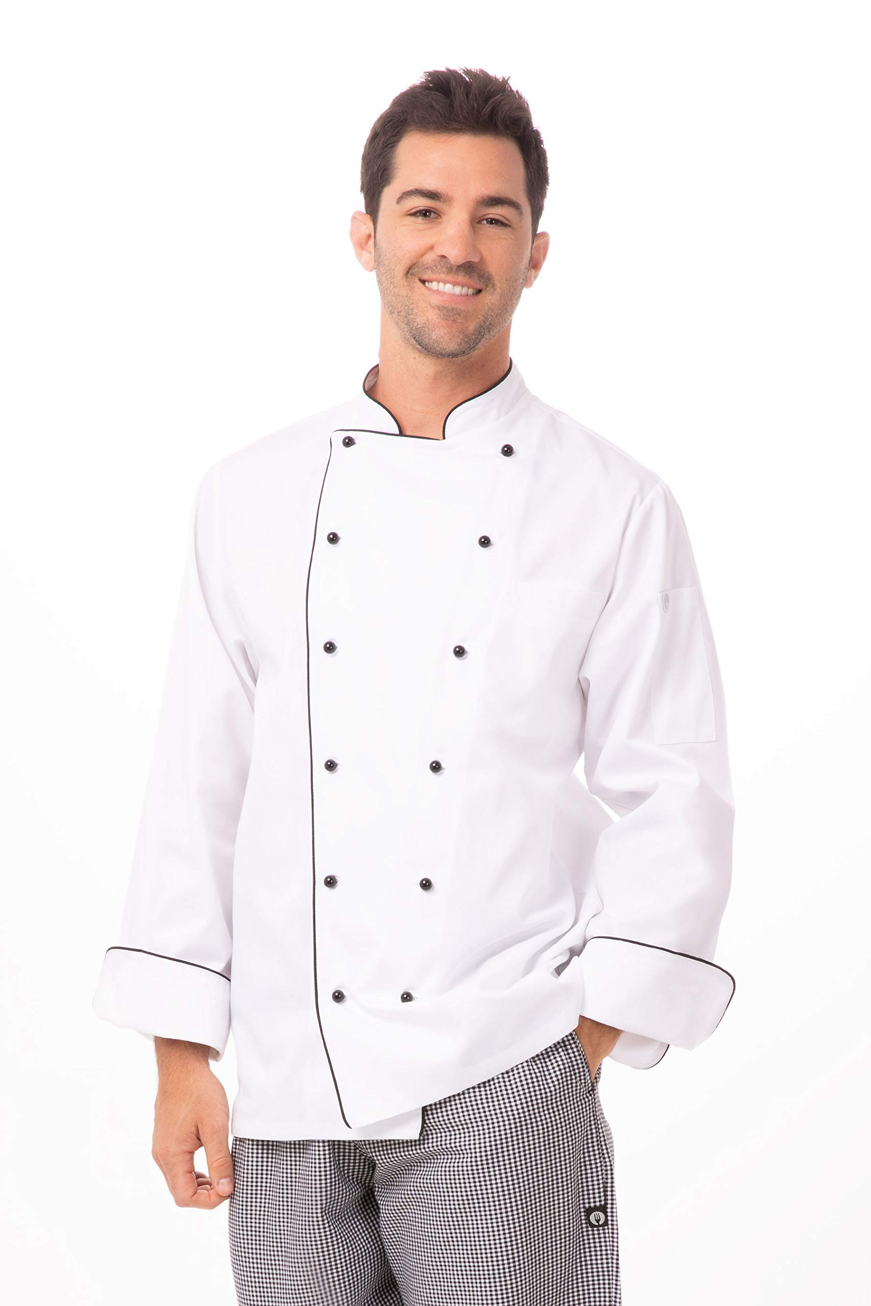 Chef Works Men's Newport Executive Chef Coat, White, 2X-Large by Chef Works