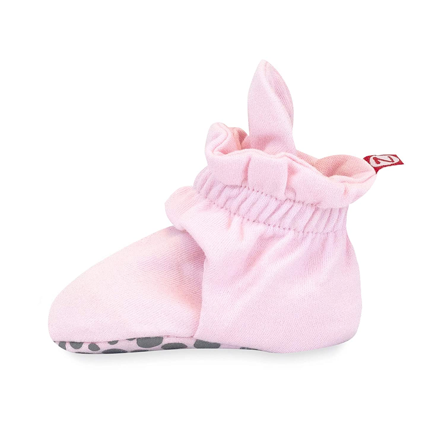 Zutano Cotton Baby Booties with Grippers - Soft Sole Stay On Baby Shoes