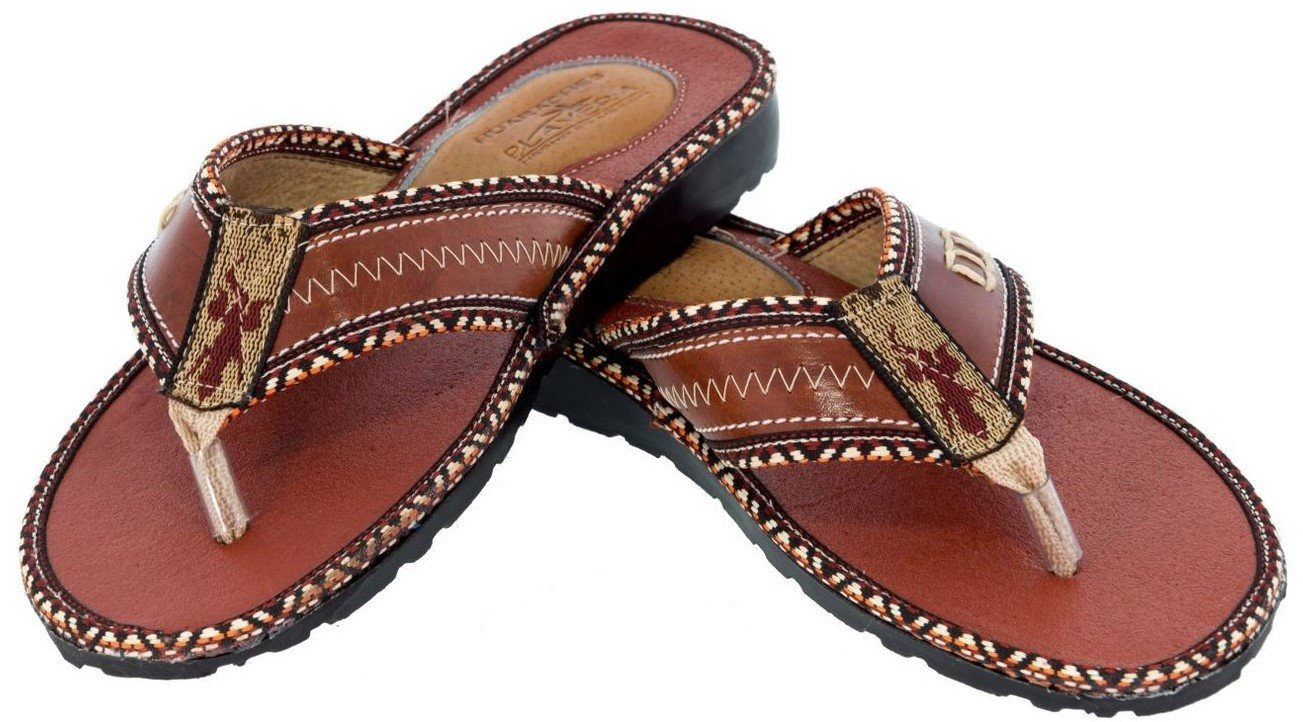 Men's Chedron All Real Leather Mexican Slip On Huaraches Open Toe 10