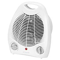 Bomann Heizlüfter HL 1096 CB, 2 Heizstufen (1000/2000 Watt), Kaltstufe (Ventilator), weiß