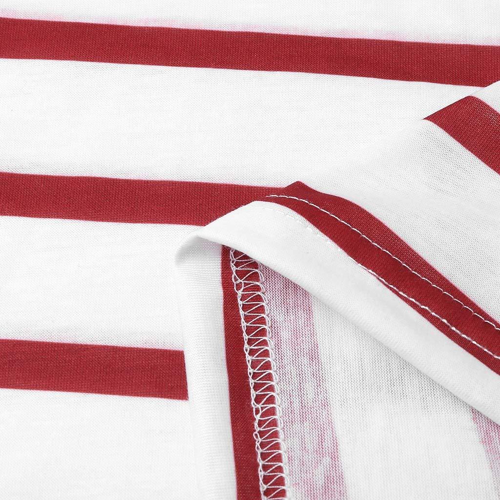 Amazon.com: Franterd - Vestido para mujer, diseño de rayas ...
