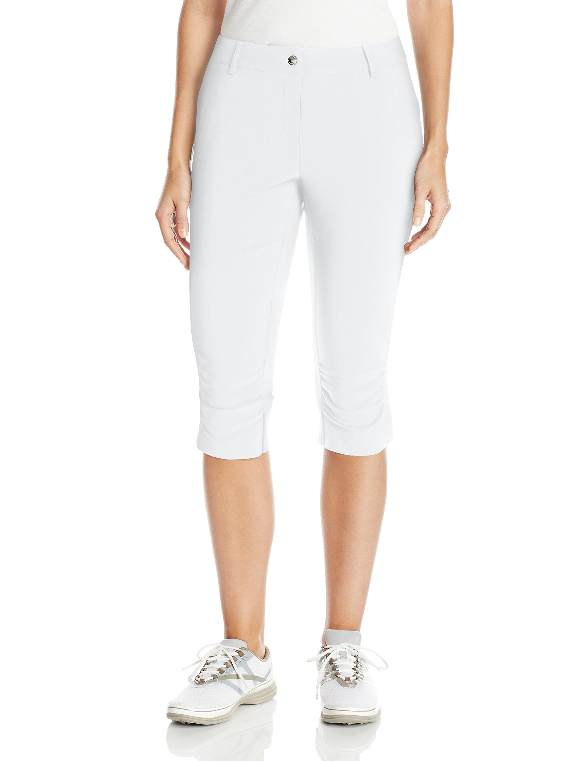 Cutter & Buck Annika Women's Moisture Wicking, UPF 50+, Stretch Morgain Long Short, White, 0