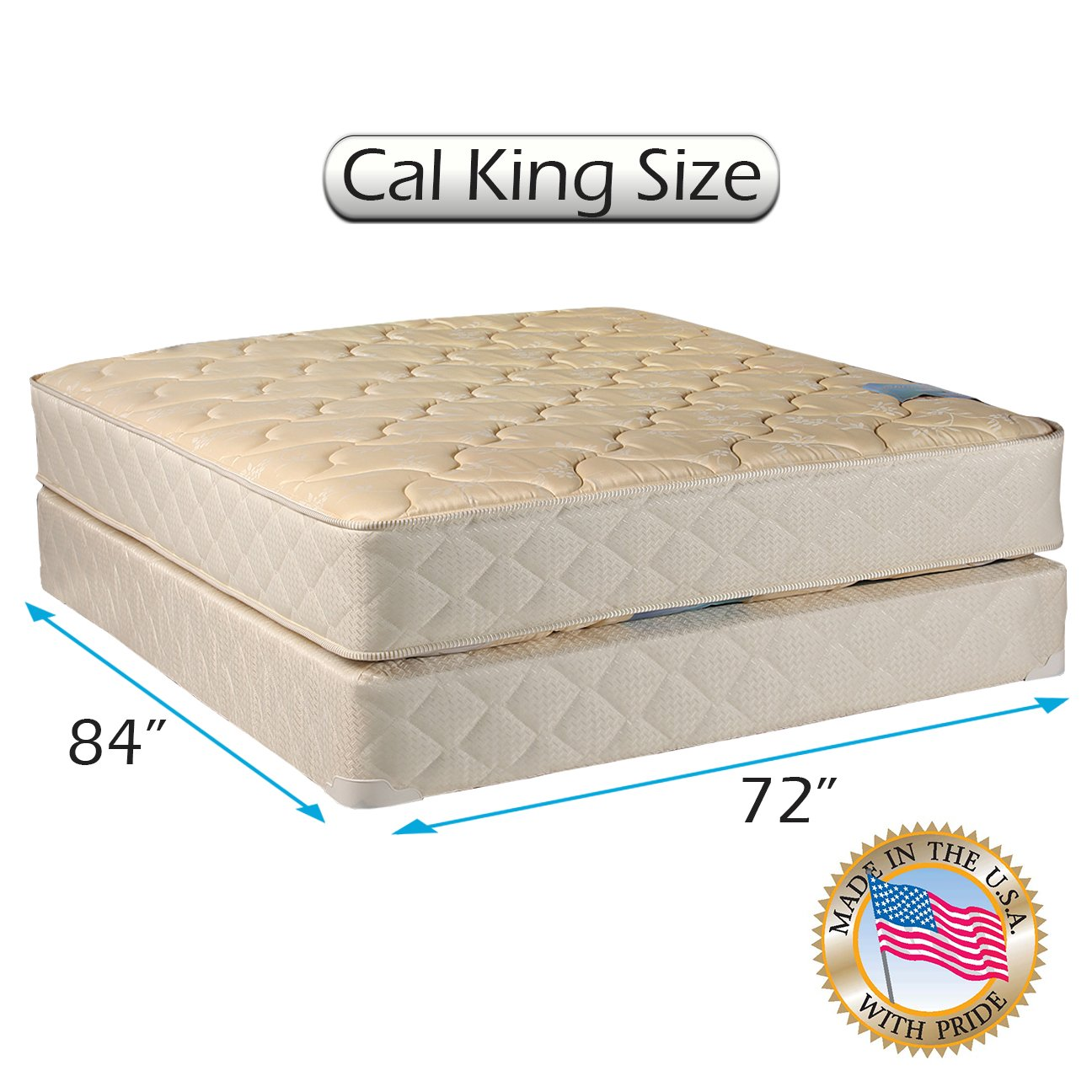 Chiro Premier Orthopedic (Beige) California King - 72''x84''x9'' Mattress and Box Spring Set - Fully Assembled, Good for your back, Superior Quality, Long Lasting and 2 Sided - By Dream Solutions USA by Dream Solutions USA