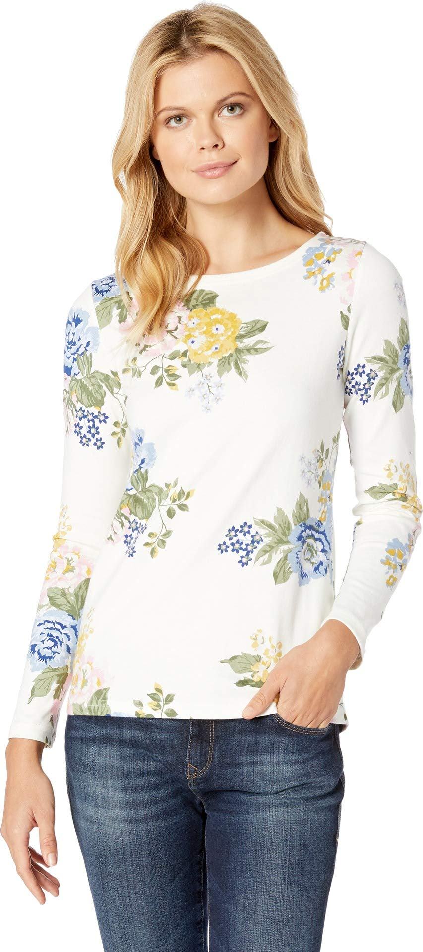 Joules Women's Harbour Printed Jersey Top Cream Maisy Floral 2