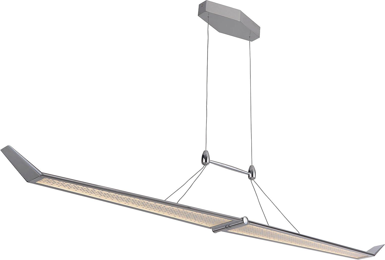 6W x 10H Craftmade 47491-CH-LED Jetstream Linear LED Chandelier Lighting Chrome 2-Light 42 Watts