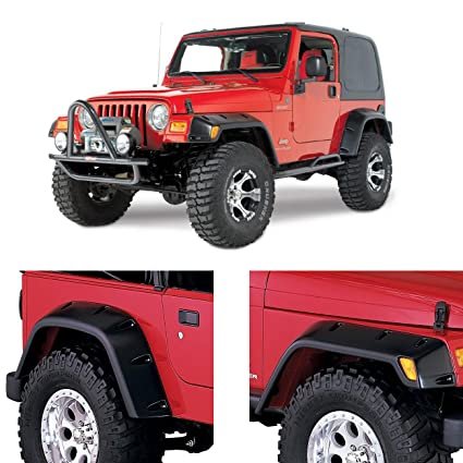 Jeep Tj Fender Flares >> Amazon Com Partol Fender Flares For 1997 2006 Jeep Wrangler