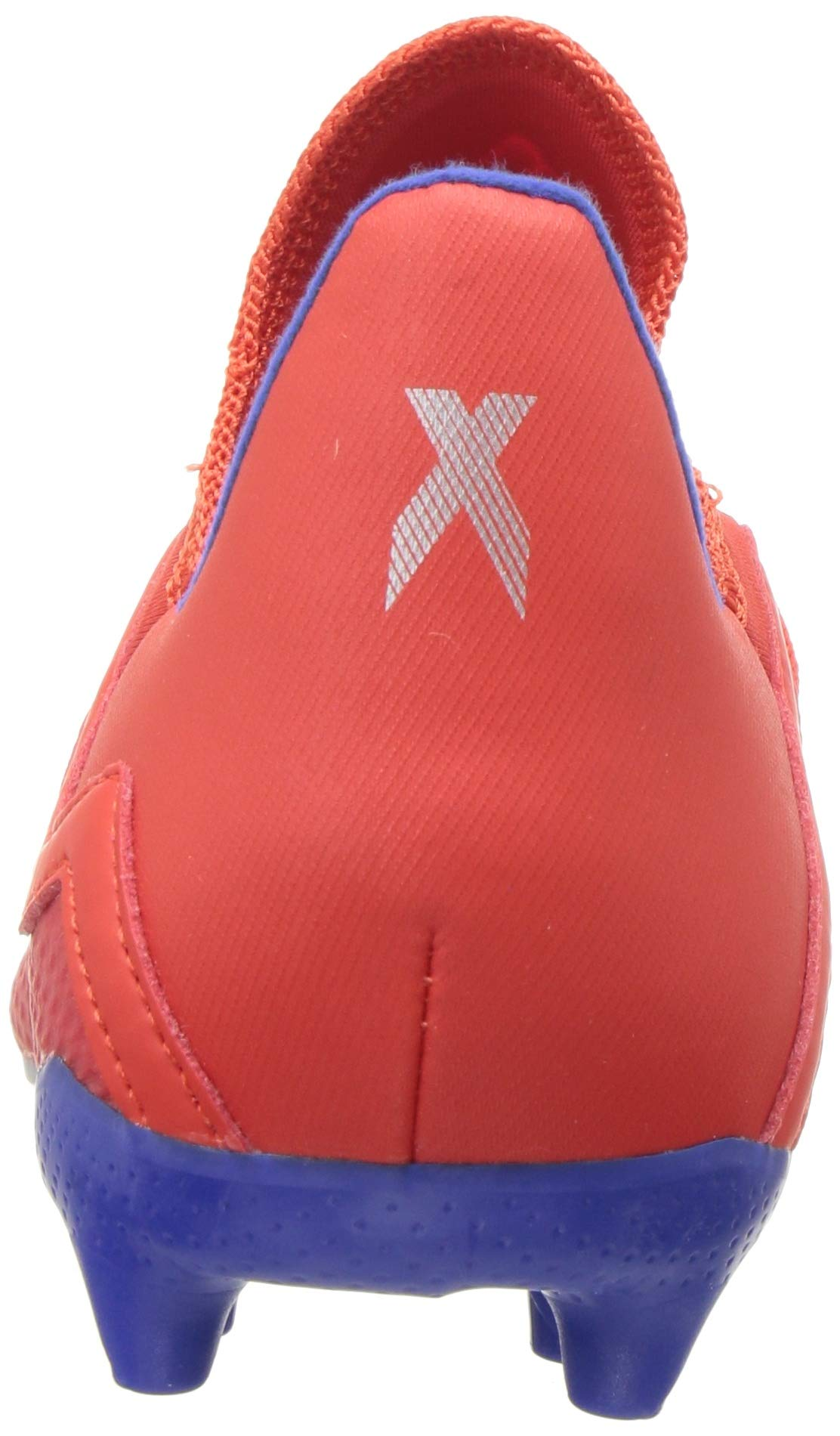 adidas X 18.3 Firm Ground, Active red/Silver Metallic/Bold Blue 13K M US Little Kid by adidas (Image #2)