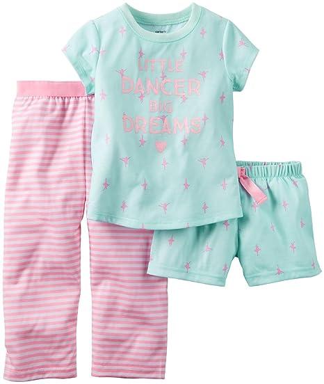a3aa2215d3 Pijamas de 3 piezas Carters para ni ntilde as peque ntilde as