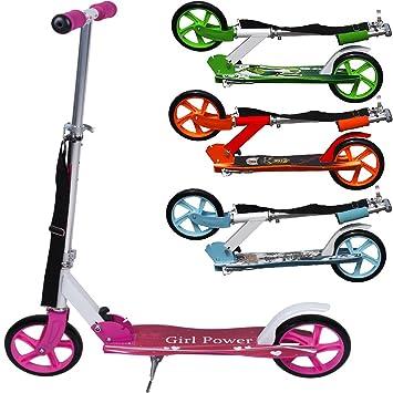 Deuba Patinete Plegable Scooter Color a Elegir | para Principiantes, niños y avanzados | Juguete, Deporte