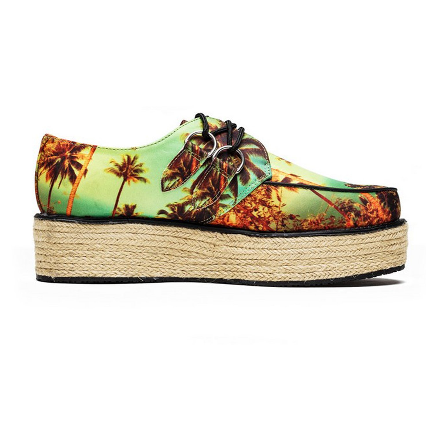 T.U.K. Shoes Women's Yo T.U.K. Sunset Print Jute Creeper Wraps EU40 / UKW7 m77EWUzoy