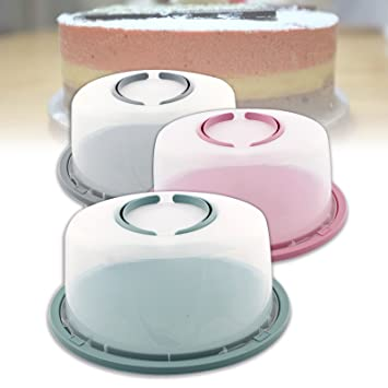 Superbe Di Nesh (667) Kuchen Behälter Tortenbehälter Tortenhaube Kuchenhaube  Tortenglocke Box (Grau)