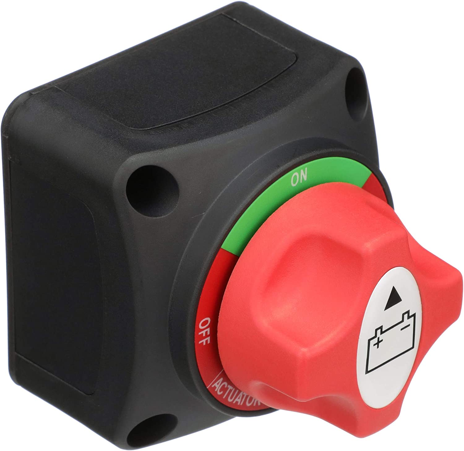 Attwood 14233-7 Battery Switch — On/Off Power Switch for Single Battery, Removable Control Knob, 12- to 50-Volt DC