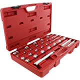 ABN Master Bushing Driver 33-Piece Set – Metric & Standard SAE Bushing, Bearing, Seal Removal & Installation Tool Kit