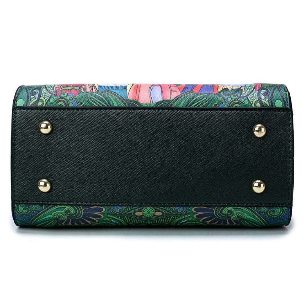 SanCanSn Crossbody Bags, Women Forest Girls Pattern Printing Single Shoulder Bag Handle Zipper Handbag (1PC, Green) by SanCanSn (Image #7)