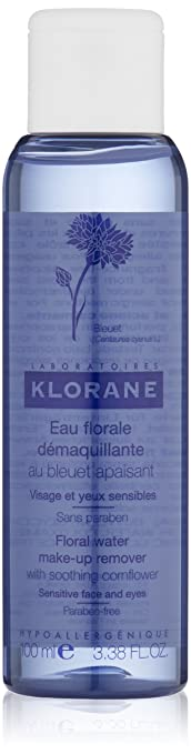 Klorane Make-Up Remover Water with Soothing Cornflower  , 3.38 Fl Oz