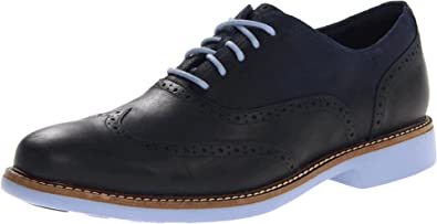 Cole Haan Men's Great Jones Wingtip Fashion Sneaker, Blue/Black Iris, ...