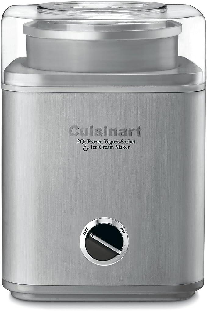 Cuisinart ICE-30BC Pure Indulgence 2-Quart Automatic Frozen Yogurt, Sorbet, and Ice Cream Maker - Silver (ICE-30BCP1)   Amazon