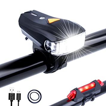 USB Rechargeable Bike Light Set Cree XM-L2 LED Headlamp and Rear Safety Flashing Lights for Night Cycling Riding BYBO MTB Lights Front Bicycle Cycling Head Light