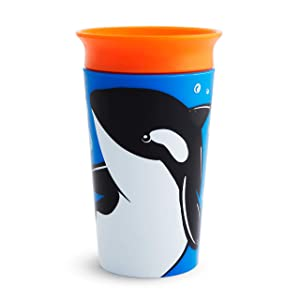 Munchkin Miracle 360 WildLove Sippy Cup, 9 Oz, Orca, 1 Pack