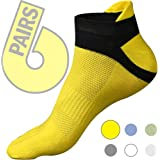 Five toe socks 6 pack - toes separated comfortable socks for athletic, running, walking, yoga and casual use