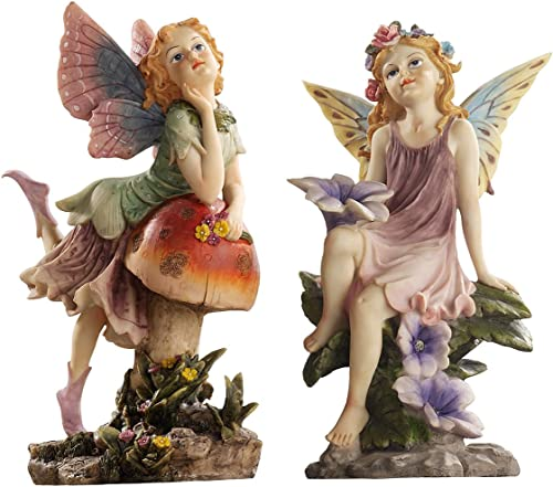 Design Toscano The Fairy Dust Garden Statue Collection Set