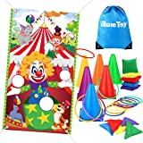 iBaseToy Carnival Game Bean Bag Toss Game for Kids & Adults, Carnival Ring Toss Game Outdoor Games for Birthday Party…