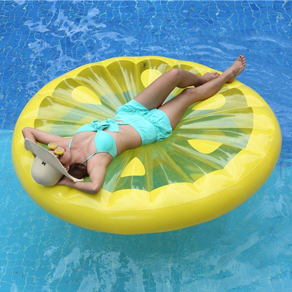 AJOG Gelb Aufblasbare Zitronenscheibe Float Pool Spielzeug Wasser ...