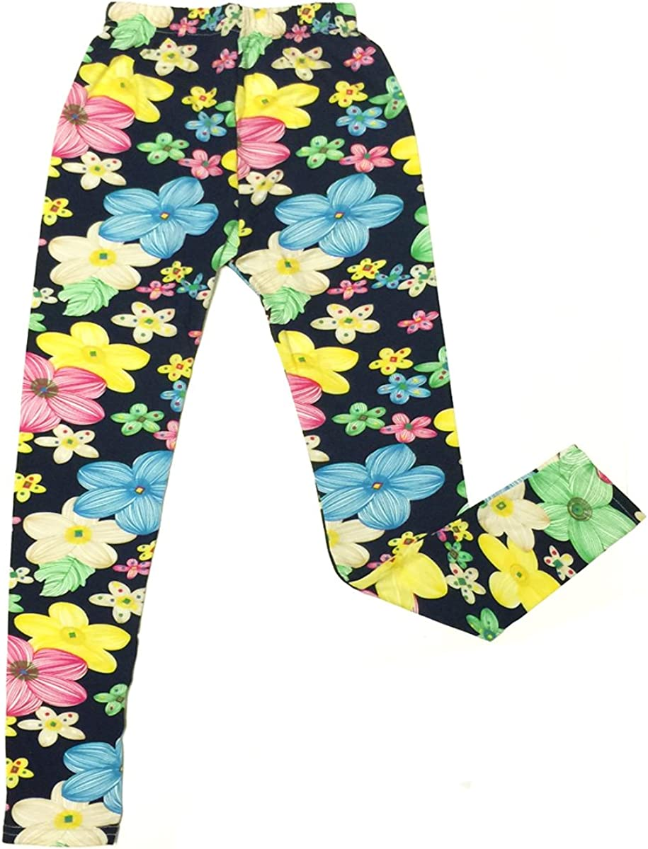 Wrapables Hot Pink Flower Colorful Doodle Leggings