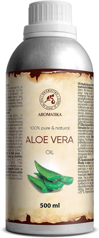 Aceite Aloe Vera 500ml - Aloe Barbadensis - Brasil - Áloe Vera Puro Natural para Piel - Cara y Bebé - Aloe Vera Oil