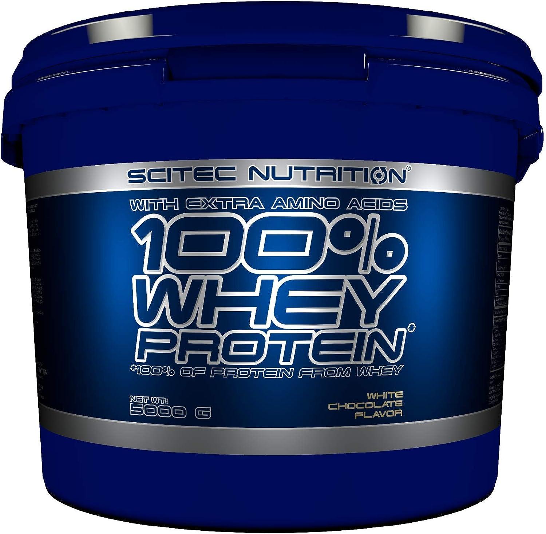 Scitec Nutrition 100% Whey Protein con aminoácidos adicionales, 5 kg, Chocolate blanco